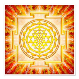 Premium poster  Sri Yantra - artwork light - Dirk Czarnota