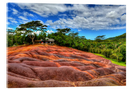 Acrylic print  Seven-colored earth in Mauritius - HADYPHOTO