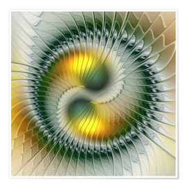 Premium poster  Like Yin and Yang Abstract Fractal Art - gabiw Art