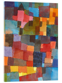 Acrylic print  Room Architectures - Paul Klee