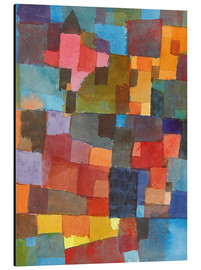 Aluminium print  Room Architectures - Paul Klee