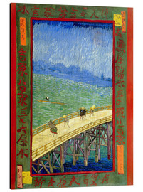 Aluminium print  The bridge in the Rrain (after Hiroshige) - Vincent van Gogh