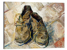 Aluminium print  A Pair of Shoes - Vincent van Gogh