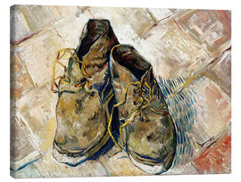 Canvas print  A Pair of Shoes - Vincent van Gogh