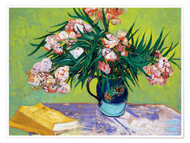 Premium poster  Majolica Jar with Branches of Oleander - Vincent van Gogh