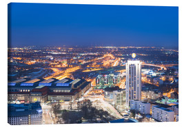 Canvas print  Leipzig at Night - Dave Derbis