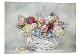 Acrylic print  a basket full of spring - Lizzy Pe