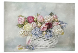 Foam board print  a basket full of spring - Lizzy Pe
