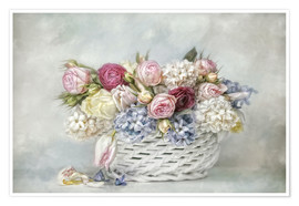 Premium poster  a basket full of spring - Lizzy Pe