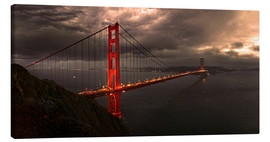 Canvas print  Golden Gate mystical brown - Michael Rucker