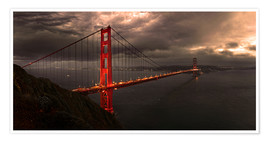 Premium poster Golden Gate mystical brown