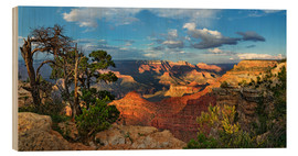 Wood print  Grand Canyon with knotty pine - Michael Rucker