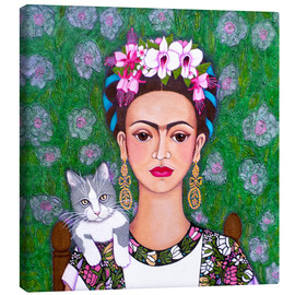 Canvas print  Frida cat lover - Madalena Lobao-Tello