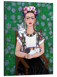 Aluminium print  Frida cat lover - Madalena Lobao-Tello