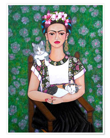 Premium poster  Frida cat lover - Madalena Lobao-Tello