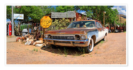 Premium poster Route66- Old Chevrolet Impala