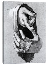 Canvas print  Study of hands - Albrecht Dürer