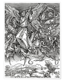 Premium poster  Michael Slaying the Dragon - Albrecht Dürer