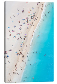 Canvas print  Greek beach in summer - Matteo Colombo