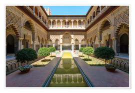 Premium poster Court of the virgins in the Alcazar