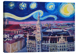 Canvas print  Starry Night in Munich - M. Bleichner