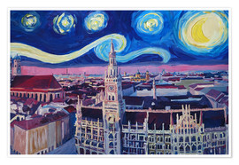 Premium poster Starry Night in Munich