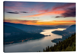Canvas  Colorful Sunset Annecy - Sander Grefte