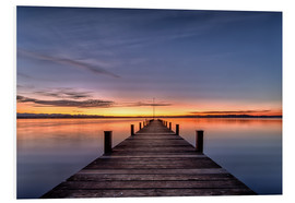 Foam board print  Bavarian Infinity - Sunset - Achim Thomae