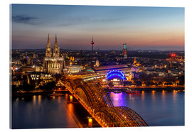 Acrylic print  Cityscape Cologne Germany - Achim Thomae