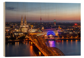 Wood print  Cityscape Cologne Germany - Achim Thomae