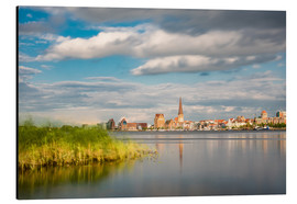 Aluminium print  View over the river Warnow to Rostock (Germany) - Rico Ködder