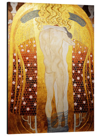 Aluminium print  Beethoven Frieze: Embracing couple - Gustav Klimt