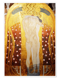 Premium poster  Beethoven Frieze: Embracing couple - Gustav Klimt