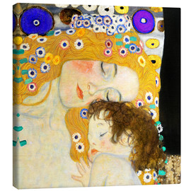 Canvas print  Mother with child - Gustav Klimt