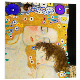 Foam board print  Mother with child - Gustav Klimt