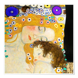 Premium poster  Mother with child - Gustav Klimt