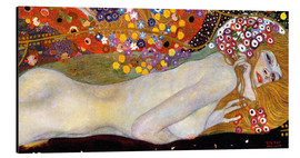 Alu-Dibond  Water Serpents II (detail) - Gustav Klimt