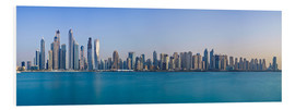 Foam board print  Dubai Marina Skyline - United Arab Emirates - Achim Thomae