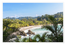 Premium poster  Beach and tropical forest, Manuel Antonio National Park, Costa Rica - Matteo Colombo