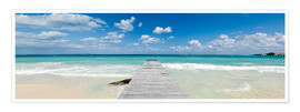 Premium poster Wooden jetty into the sea, Mexico