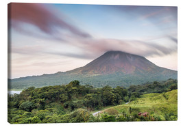 Canvas print  Landscape: Arenal volcano at sunset, Costa Rica - Matteo Colombo