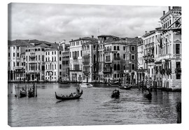 Canvas  Venice black and white - Filtergrafia