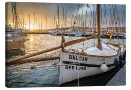 Canvas  Historic sailboat in the port of Palma de Mallorca - Christian Müringer