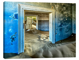 Canvas  Sand in the premises of an abandoned house - Robert Postma