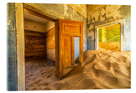 Acrylic print  Sand in the premises of an abandoned house - Robert Postma