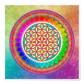 Premium poster  Flower of Life, Rainbow Lotus Artwork I - Dirk Czarnota