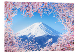 Jan Christopher Becke - Mount Fuji in Japan during the cherry blossom in spring