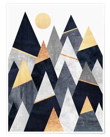 Premium poster  Fancy mountains - Elisabeth Fredriksson