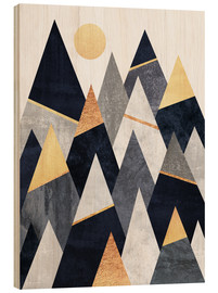 Wood print  Fancy mountains - Elisabeth Fredriksson