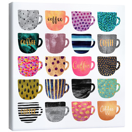 Canvas print  Pretty coffee cups - Elisabeth Fredriksson